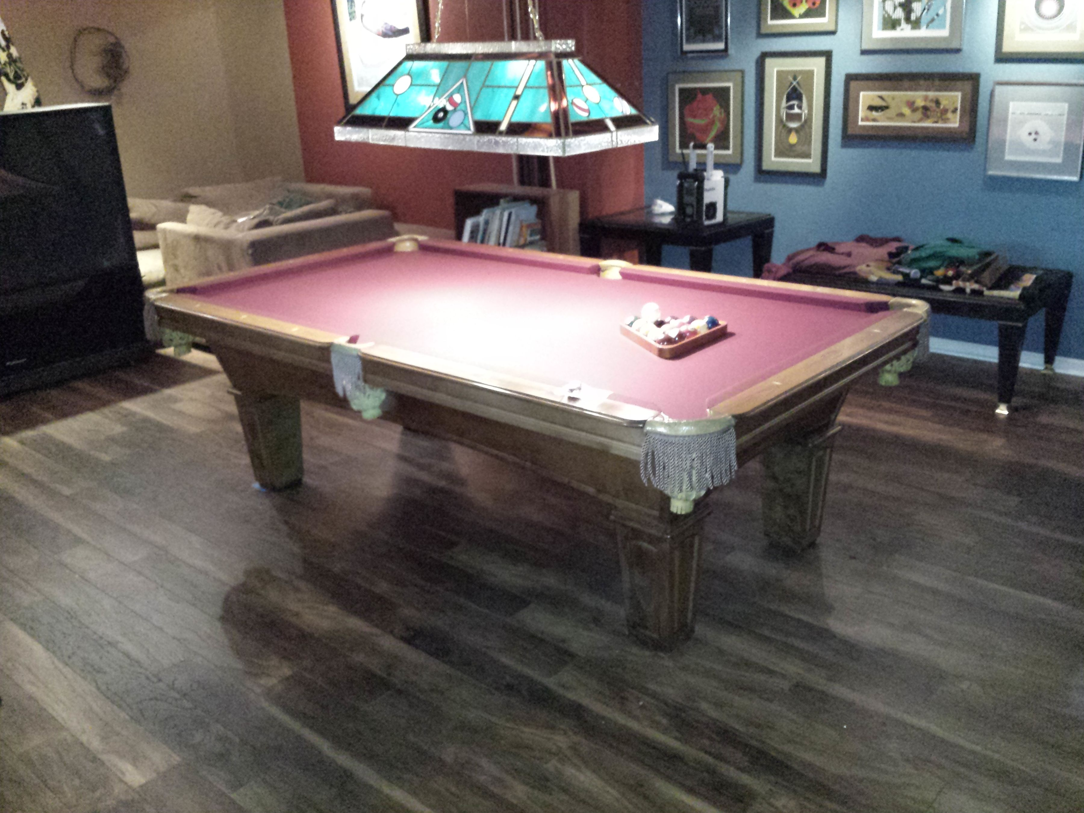 pool the pin billiards cottage finish carving throughout select cove rococo sense grandeur o its table lends tables hand series to olhausen of