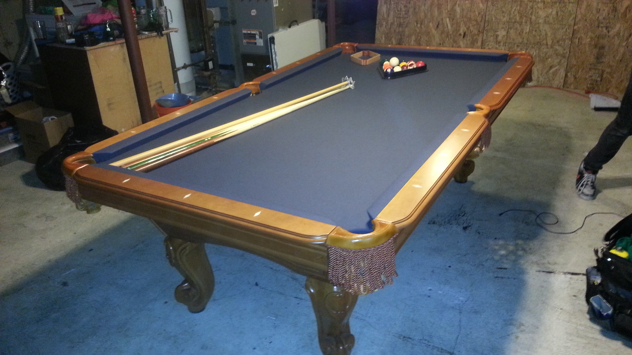 en championship ii table ft hathaway black in p saturn cloth felt home billiard pool