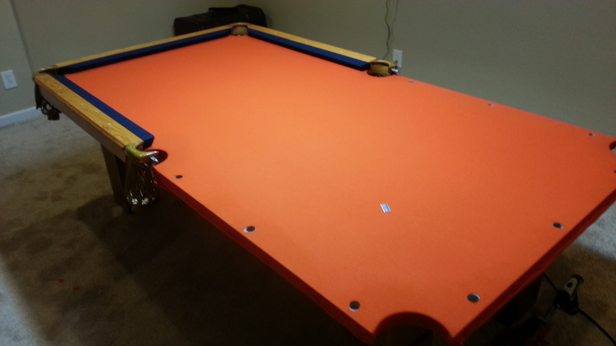 Used Pool Table Assembly With Denver Broncos Pool Table Cloth In - Pool table assembly near me