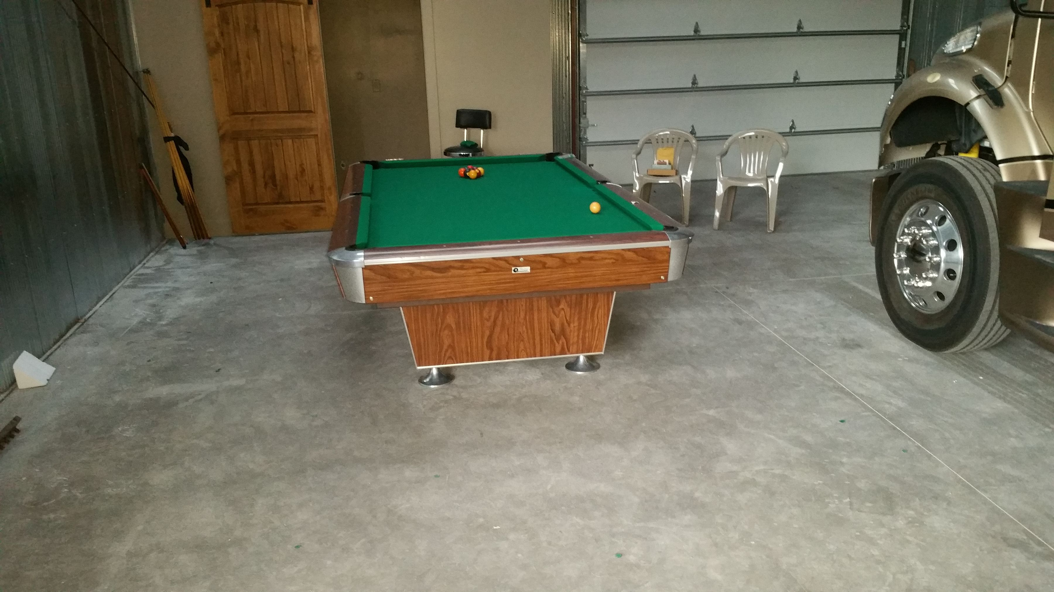We Installed A Top Line Pool Table In A Very Nice Garage - Pool table in garage