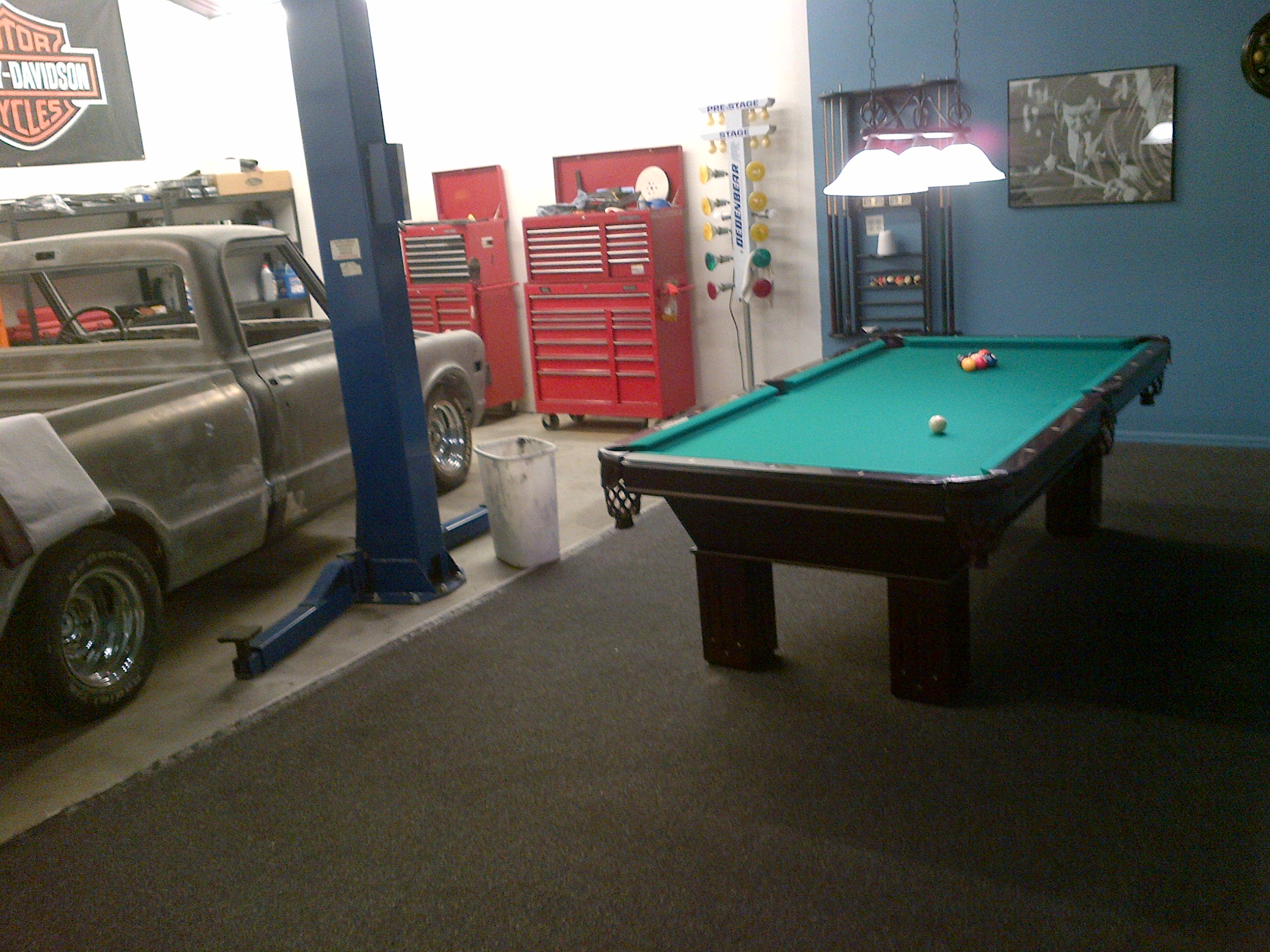 Assembly Of An 8u0027, Slate Pool Table In The Perfect Man Cave In Arvada, CO.