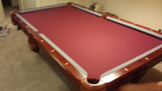 Imperial Pool Table Assembly With New Felt Refelt In Colorado - Pink pool table felt