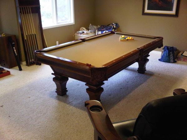 Brunswick Pool Table Move And Re Cloth In Fort Collins Colorado - How to install pool table felt